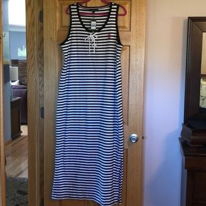 NWT.  Tommy Hilfiger Black and White Maxi Dress